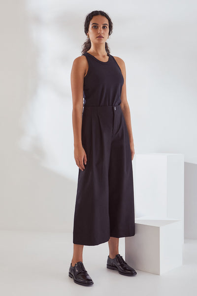 Kowtow Atelier Culottes - Black Canvas - nat + sus/the shop