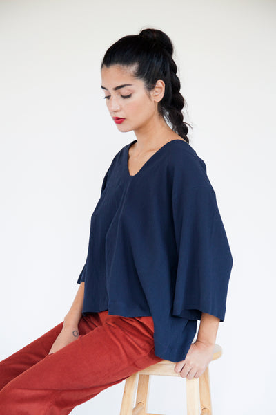 Bell Sleeve Top - Various Colors - nat + sus