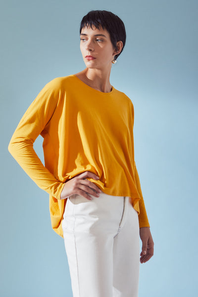 Kowtow Building Block Drape Top - Sun - nat + sus