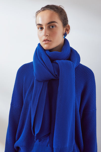 Kowtow Knit Embrace Scarf - Grey Marle or Cobalt
