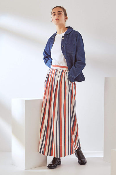 Kowtow Line Skirt - Parasol Stripe - nat + sus/the shop
