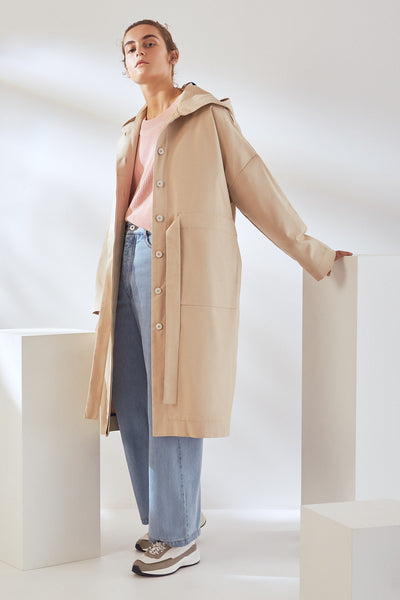 Kowtow Shelter Anorak - Sand or Black Canvas - nat + sus/the shop