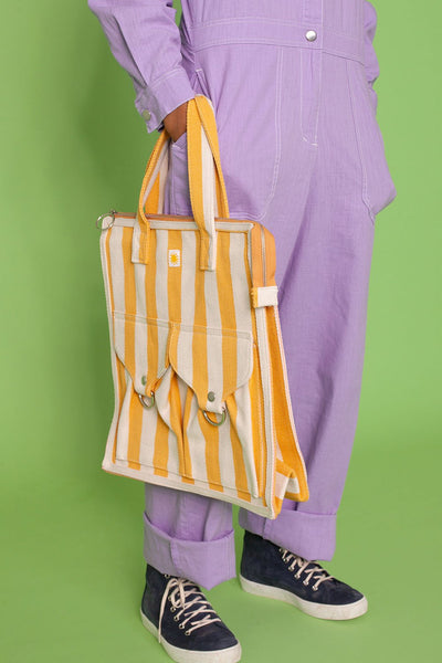 L.F. Markey Striped Beach Bag - Yellow or Red