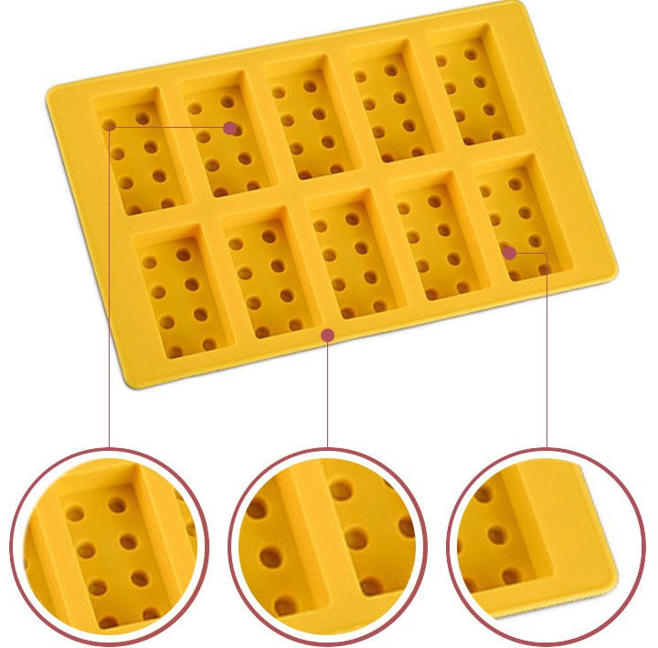 Silicone Building block Mold For Cake, Cookie, Candy, Chocolate, and Ice Cube Tray
