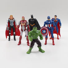 Free shipping a 9-10 cm Avengers super hero toy Hulk Captain America Superman Batman toys birthday gift ornaments collection - Clearlygeek - 1