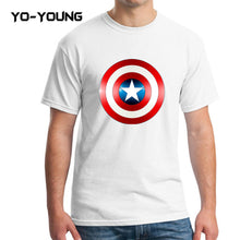 Yo-Young Mens T Shirts Supehero Captain America Printed 100% Cotton Casual Top Tee camisetas Brand Quality Customer Made - Clearlygeek - 3