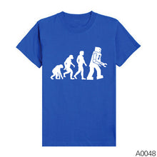 Men Shirts The BIG BANG Theory Bazinga Sheldon Cooper Tshirts The Evolution Of Man Geek Logo Robot Short Sleeve T-shirts - Clearlygeek - 13