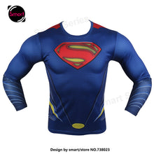 Fashion Marvel Comics Super Heroes Spiderman Captain America Batman Lycra Tights sport T shirt Men fitness clothing Long sleeves - Clearlygeek - 6