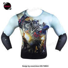 Fashion Marvel Comics Super Heroes Spiderman Captain America Batman Lycra Tights sport T shirt Men fitness clothing Long sleeves - Clearlygeek - 19