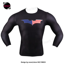 Fashion Marvel Comics Super Heroes Spiderman Captain America Batman Lycra Tights sport T shirt Men fitness clothing Long sleeves - Clearlygeek - 16
