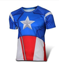 NEW 2015 Marvel Captain America 2 Super Hero lycra compression tights sport T shirt Men fitness clothing short sleeves S-XXXXL - Clearlygeek - 6