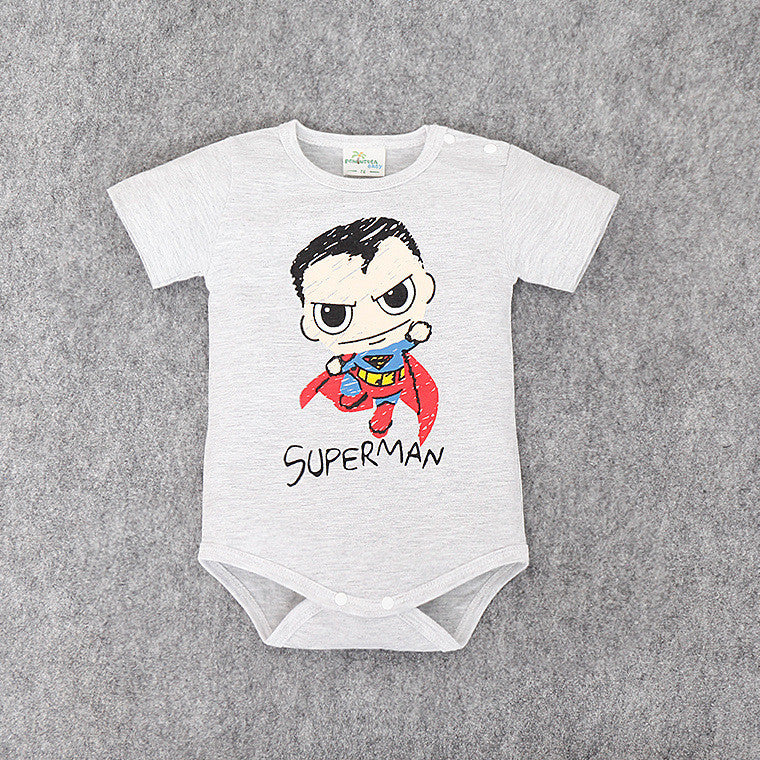 Baby Superman and Batman Short Sleeves rompers for Boys, Newborn Baby Romper, Toddler Underwear, Infant Clothing - Clearlygeek - 2