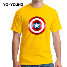 Yo-Young Mens T Shirts Supehero Captain America Printed 100% Cotton Casual Top Tee camisetas Brand Quality Customer Made - Clearlygeek - 4