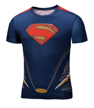 Marvel Super Heroes Avenger Captain America Batman sport T shirt Men Compression Armour Base Layer Thermal Under Causal Shirt - Clearlygeek - 22