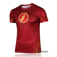 Hot sales 2015 New compressed t-shirt hot Super hero Lightning  Iron man t shirt men sports quick dry fitness clothing - Clearlygeek - 2