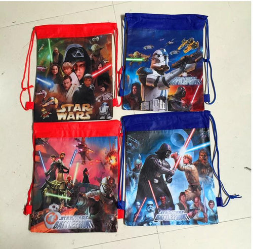 12Pcs Star Wars Darth Vader School Bag Non-Woven String Shoe Backpack Shopping Bag For Boys Girls Kids Birthday Gifts All Match - Clearlygeek