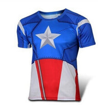 High quality new 2016 Men superhero Batman Jersey shirt sports quick dry fitness compression drying T shirt 3D girly men - Clearlygeek - 16
