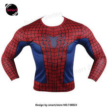 Fashion Marvel Comics Super Heroes Spiderman Captain America Batman Lycra Tights sport T shirt Men fitness clothing Long sleeves - Clearlygeek - 8