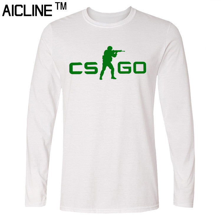Long sleeved T Shirt COUNTER STRIKE GLOBAL CS Gun T shirts Summer Slim Fit Casual Man Tees Fashion Normal T-shirts - Clearlygeek - 3