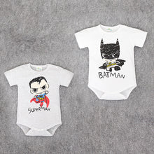 Baby Superman and Batman Short Sleeves rompers for Boys, Newborn Baby Romper, Toddler Underwear, Infant Clothing - Clearlygeek - 1