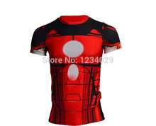 2015 American league devil batman superman tights man, the man of the super elastic sleeve round collar T-shirt fitness clothing - Clearlygeek - 7
