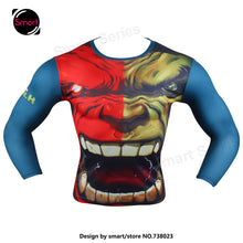 Fashion Marvel Comics Super Heroes Spiderman Captain America Batman Lycra Tights sport T shirt Men fitness clothing Long sleeves - Clearlygeek - 10
