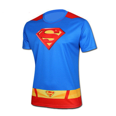Free shipping 2015 t-shirt Superman/Batman/spider man/captain America /Hulk/Iron Man / t shirt men fitness shirts men t shirts - Clearlygeek - 15