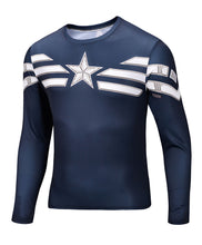2015 new men Body sculpting sweatshirt T-shirt spiderman captain America avengers superhero men's long sleeve shirt 21 style - Clearlygeek - 13