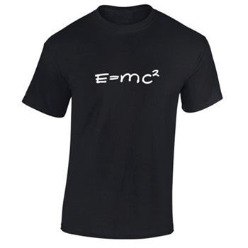 Letter Printed E=MC2 Physics Science Summer Tee shirts Big Bang Theory T-Shirt Mens geek nerd maths Casual Tops - Clearlygeek - 2