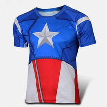 Hot sales 2015 New compressed t-shirt hot Super hero Lightning  Iron man t shirt men sports quick dry fitness clothing - Clearlygeek - 17