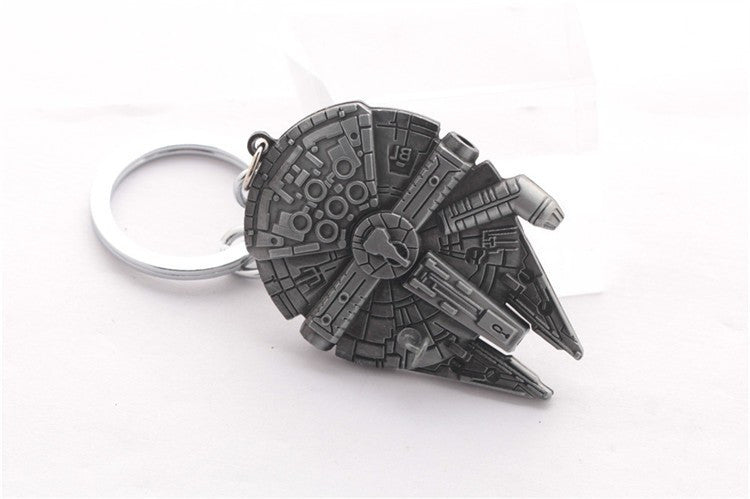 The Moive StarWars Spacecraft alloy silver metal keychain pendant Key Chains star wars ship Keyrings chaveiro llaveros for men - Clearlygeek - 3