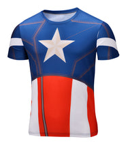Marvel Super Heroes Avenger Captain America Batman sport T shirt Men Compression Armour Base Layer Thermal Under Causal Shirt - Clearlygeek - 14