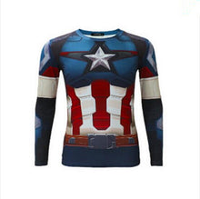 High Quality 2016 Marvel Captain America 2 Winter Soldier Costume 3d Super Hero Jersey Long Sleeves Sport Camisetas T Shirt Men - Clearlygeek - 6