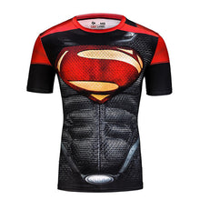 2015 American league devil batman superman tights man, the man of the super elastic sleeve round collar T-shirt fitness clothing - Clearlygeek - 2