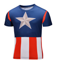 Marvel Super Heroes Avenger Captain America Batman sport T shirt Men Compression Armour Base Layer Thermal Under Causal Shirt - Clearlygeek - 11
