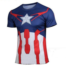 High quality new 2016 Men superhero Batman Jersey shirt sports quick dry fitness compression drying T shirt 3D girly men - Clearlygeek - 20