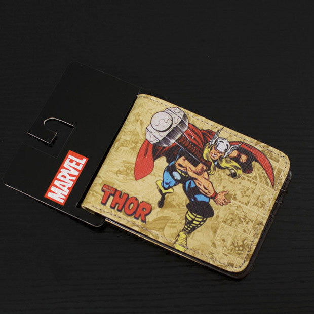 DC Marvel Comics Brand Wallet Men Superhero Thor Cartoon Anime Purse Famous Designer Bags 2015 Male Holiday Gift Wallets - Clearlygeek - 2