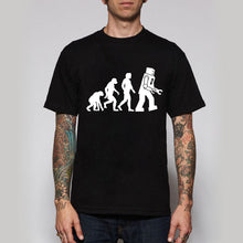 Men Shirts The BIG BANG Theory Bazinga Sheldon Cooper Tshirts The Evolution Of Man Geek Logo Robot Short Sleeve T-shirts - Clearlygeek - 1