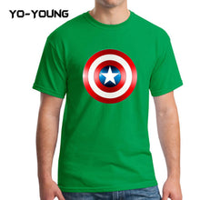 Yo-Young Mens T Shirts Supehero Captain America Printed 100% Cotton Casual Top Tee camisetas Brand Quality Customer Made - Clearlygeek - 5