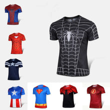 Free shipping 2015 t-shirt Superman/Batman/spider man/captain America /Hulk/Iron Man / t shirt men fitness shirts men t shirts - Clearlygeek - 1