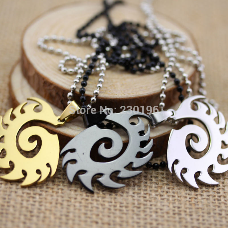 3 color Hot Game Starcraft II Zerg Necklaces Stainless Steel Pendant Free Shipping - Clearlygeek