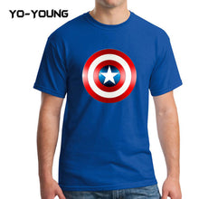 Yo-Young Mens T Shirts Supehero Captain America Printed 100% Cotton Casual Top Tee camisetas Brand Quality Customer Made - Clearlygeek - 2