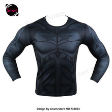 Fashion Marvel Comics Super Heroes Spiderman Captain America Batman Lycra Tights sport T shirt Men fitness clothing Long sleeves - Clearlygeek - 20