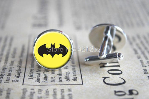 10pairs/lot Batman Cufflinks, Superhero Cufflinks, Geek Cufflinks, Geek Jewelry, Fun Gift, Groomsmen Gift, Boyfriend Gift - Clearlygeek