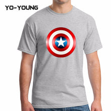Yo-Young Mens T Shirts Supehero Captain America Printed 100% Cotton Casual Top Tee camisetas Brand Quality Customer Made - Clearlygeek - 1