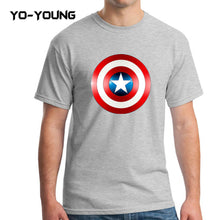 Yo-Young Mens T Shirts Supehero Captain America Printed 100% Cotton Casual Top Tee camisetas Brand Quality Customer Made - Clearlygeek - 7