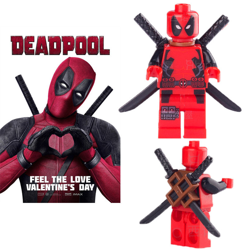 Self-locking bricks Single sale DC marvel avengers super heroes minifigures deadpool Classic Figures kids toy - Clearlygeek
