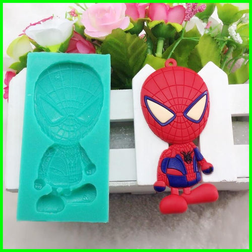 super spider hero Fondant Cake Decorating Tools 3d silicone mould cutter cookie sugarcraft wedding decoration Kitchen Accessorie - Clearlygeek