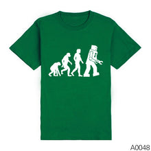 Men Shirts The BIG BANG Theory Bazinga Sheldon Cooper Tshirts The Evolution Of Man Geek Logo Robot Short Sleeve T-shirts - Clearlygeek - 3