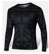 Marvel Super Heroes Avenger Batman sport T shirt Men Compression Armour Base Layer Long Sleeve Thermal Under Top Fitness XS-8XL - Clearlygeek - 14